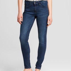 Dark Wash High-Rise Skinny Jeans